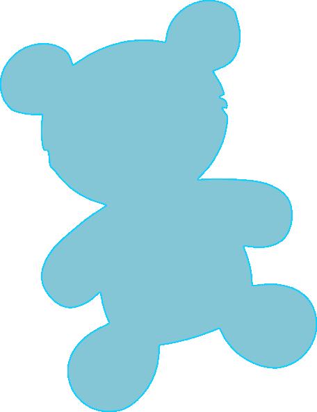 456x593 Baby Blue Teddy Clip Art