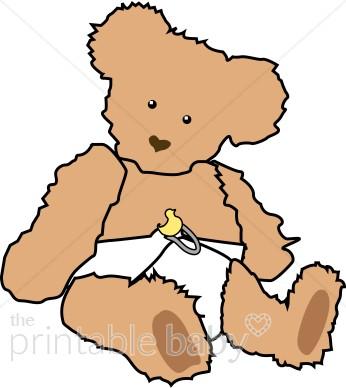 346x388 Baby Teddybear Clipart Teddy Bear Baby Clipart