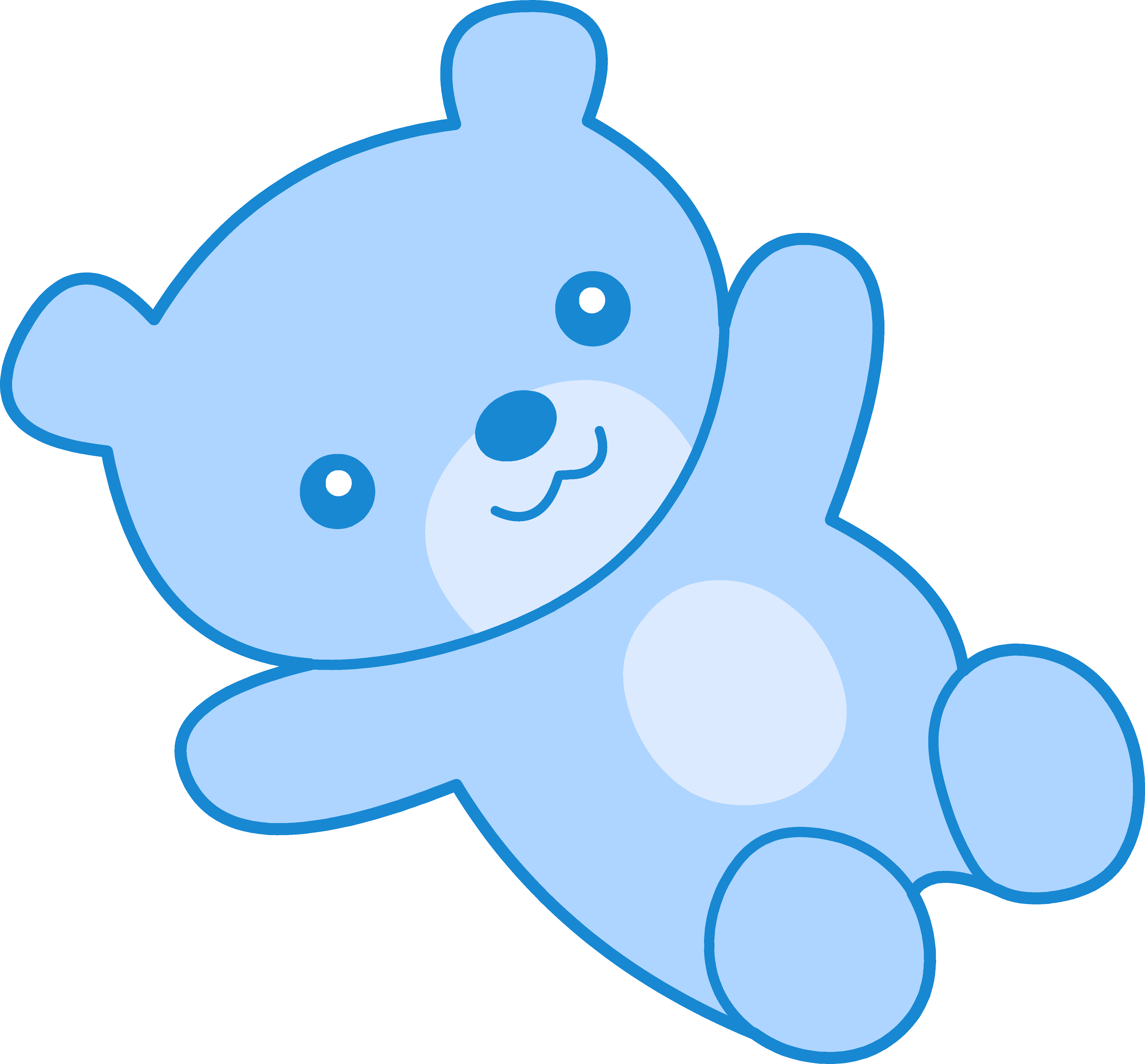 5120x4760 Cute Blue Teddy Bear Clipart