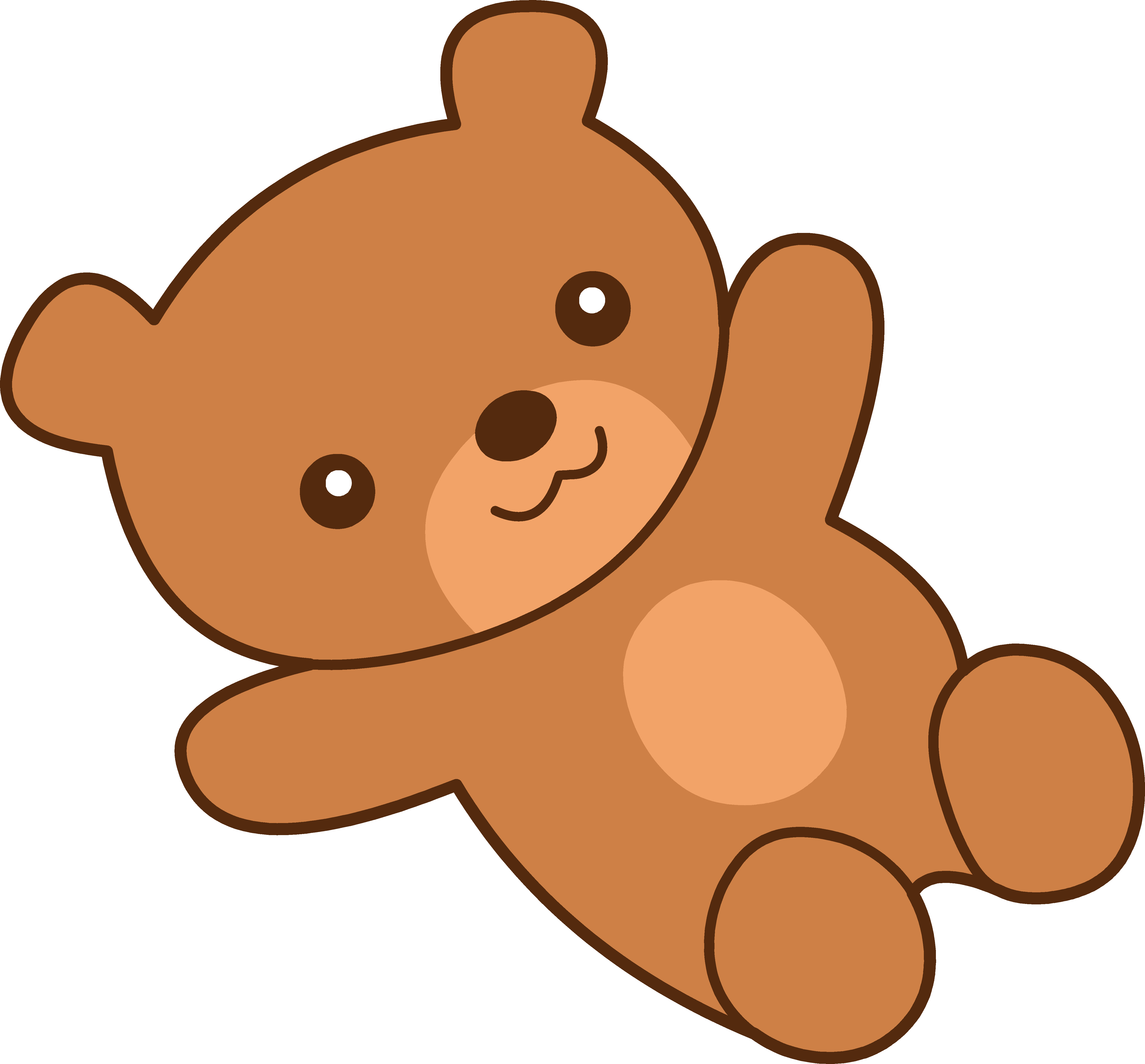 5120x4760 Cute Brown Teddy Bear Clipart