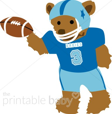382x388 Teddy Bear Football Player Clipart Sports Baby Clipart