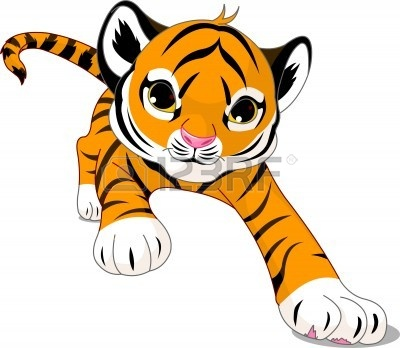 400x348 Bengal Clipart Baby Tiger