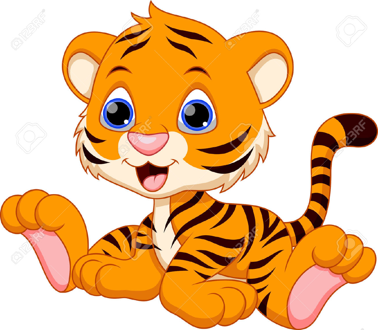 1300x1132 Tiger Clipart Adorable