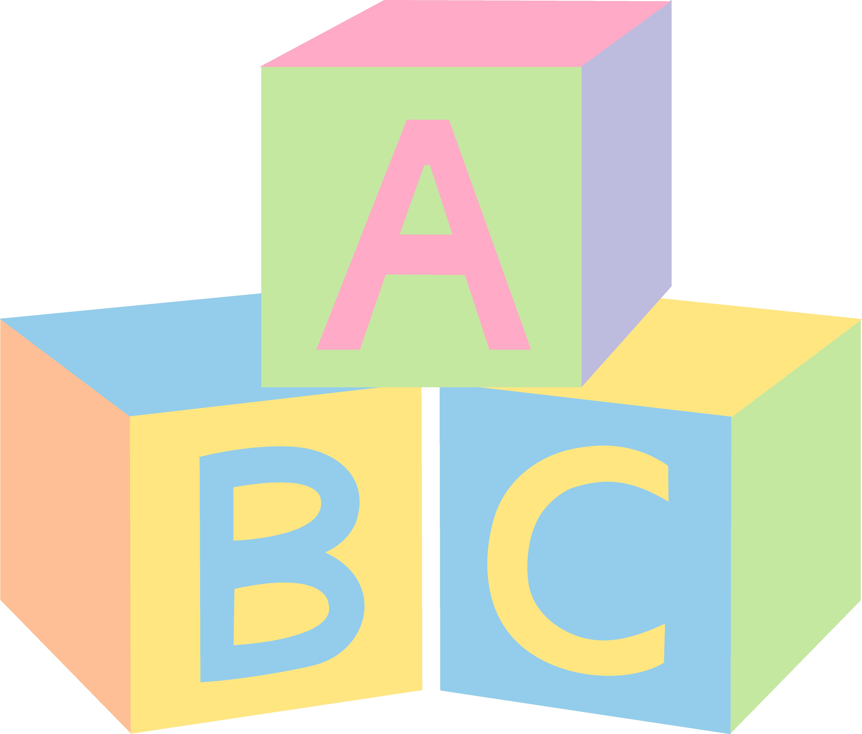 5170x4401 Pastel Abc Baby Blocks Free Clip Art