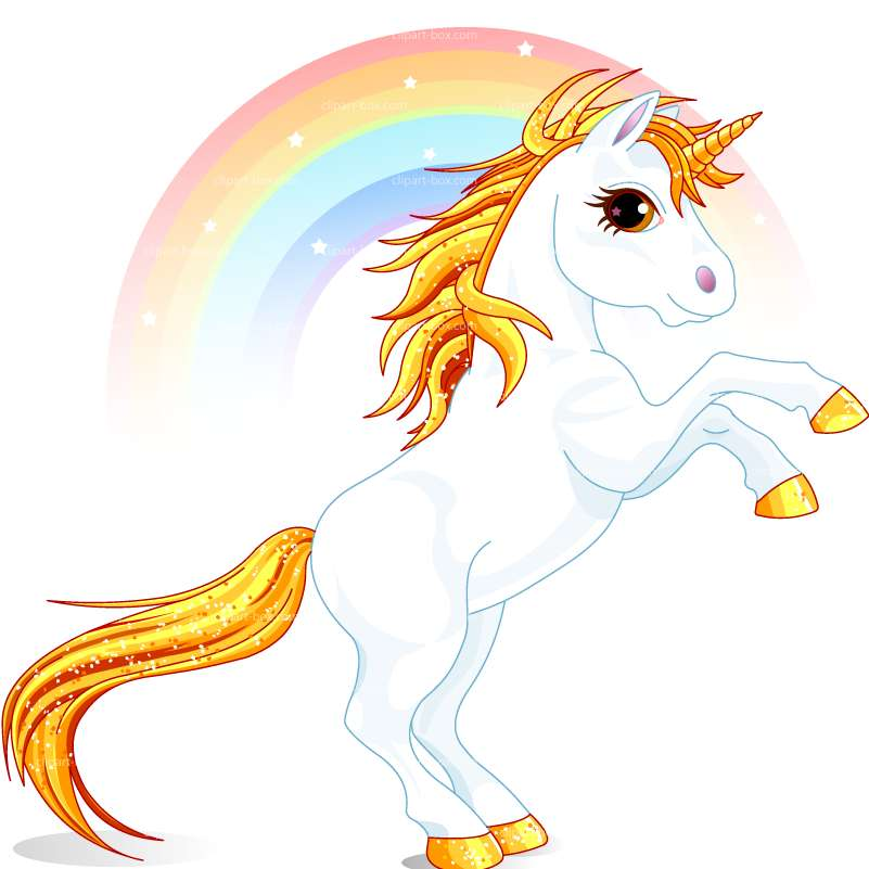 801x801 Rainbow And Unicorn Clipart