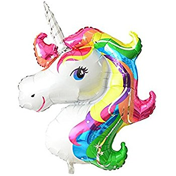 350x350 Findfun 33'' Unicorn Foil Balloon Animal Horse Decor