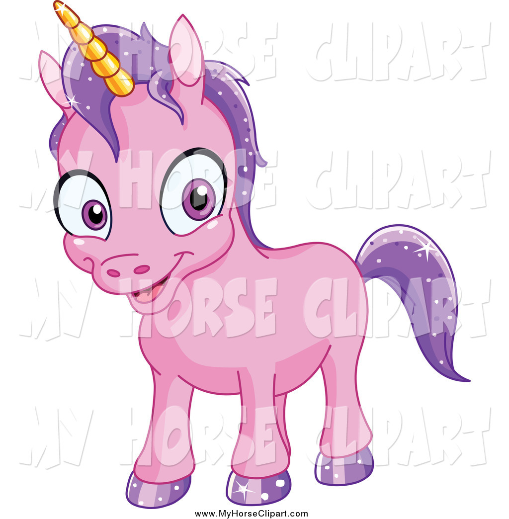 1024x1044 Clip Art Of A Happy Baby Purple Unicorn With Sparkly Hair By