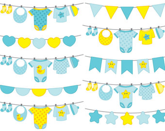 340x270 Baby Clothes Banner Clipart Baby Boy Clip Art Bunting