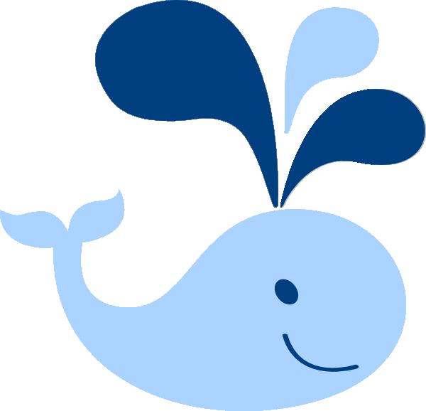 600x578 Blue Baby Whale Clip Art
