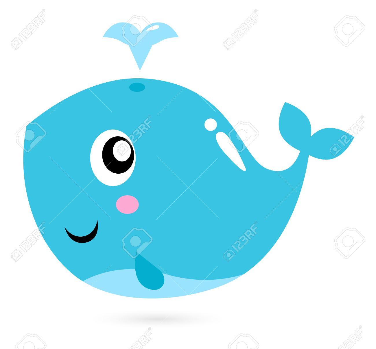 1300x1208 Blue Whale Clipart Baby Fish