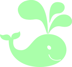 299x279 Mint Green Whale Clip Art