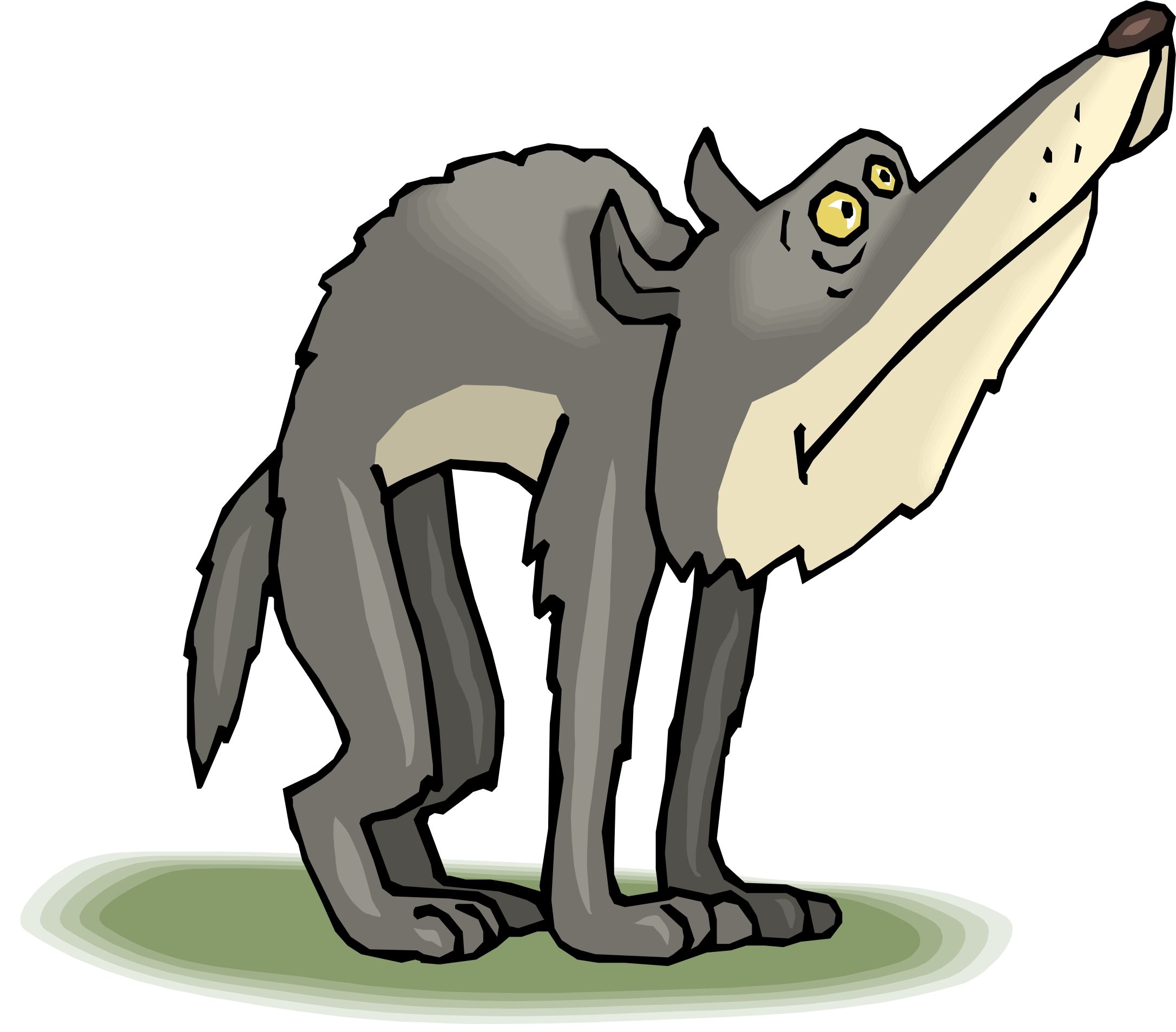 2173x1907 Gray Wolf Clipart Nice Cartoon