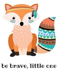 236x295 Fox Print Nursery Tribal Fox Tribal Nursery Prints Fox Fox