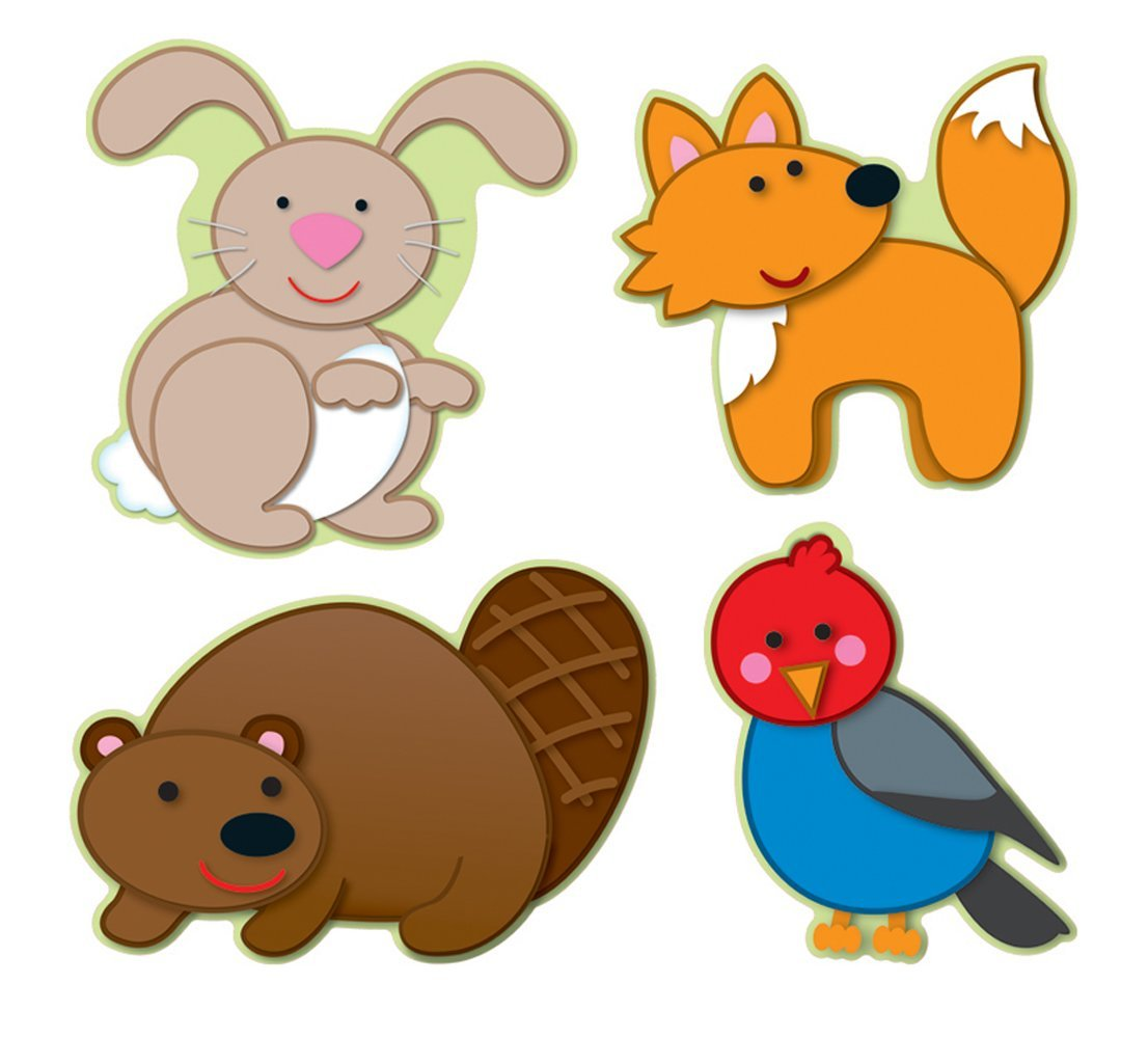 1106x1000 Carson Dellosa Woodland Animals Cut Outs (120108