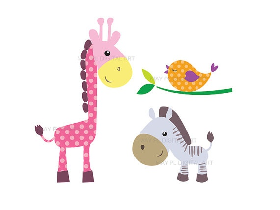 570x428 Baby Animal Clipart Together