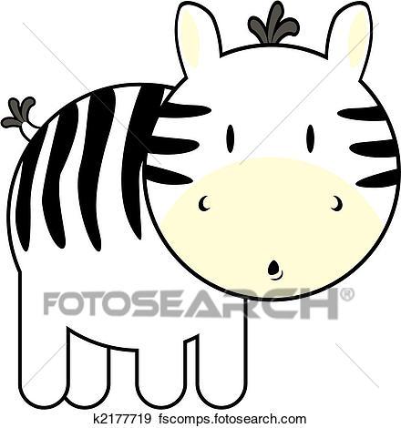 440x470 Clip Art of cute baby zebra k2177719