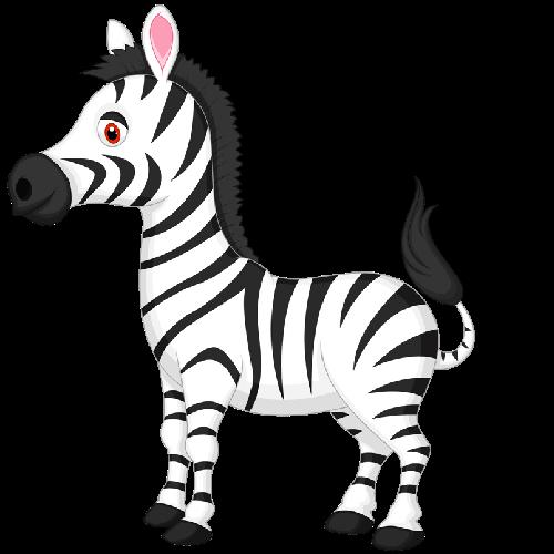 500x500 Cute Baby Zebra Zebra Cartoon Pictures Cliparts
