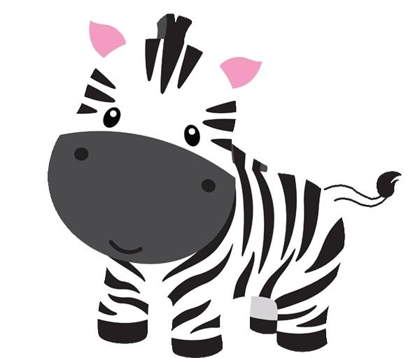 600x512 Baby zebra clipart