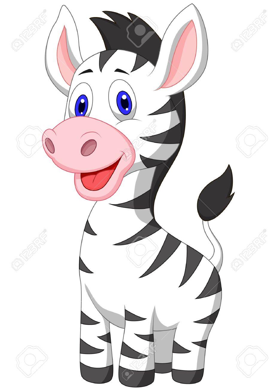 919x1300 Cute Baby Zebra Cartoon Royalty Free Cliparts, Vectors, And Stock