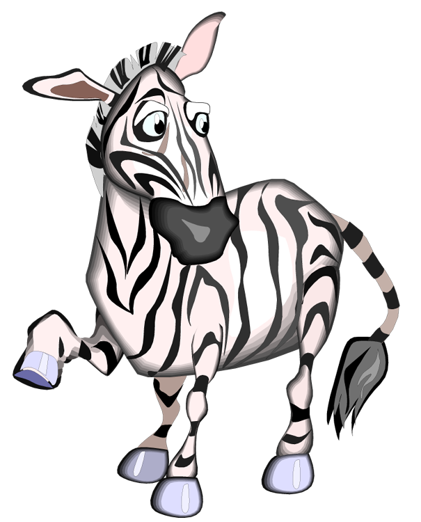 605x750 Free zebra clipart