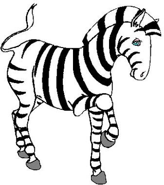 337x381 Zebra clipart animals clip art 2