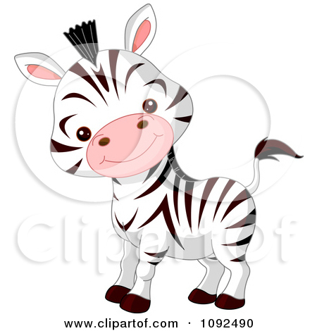 450x470 Baby zebra clipart