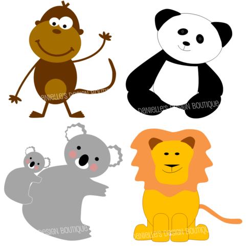 483x483 Zoo Animal Clip Art Chadholtz