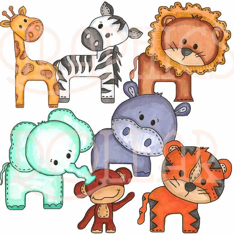 780x780 Zoo Baby Animals Clip Art
