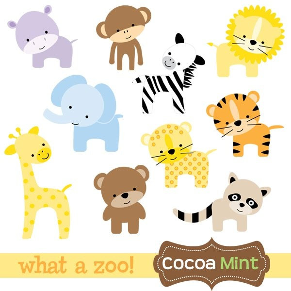 600x600 Animal Kingdom Clipart Baby Zoo Animal