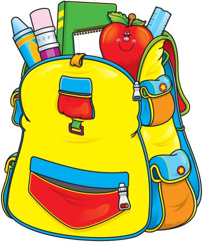 410x488 Back To School Clip Art, Backpacks And School