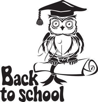 Back To School Black And White Clipart