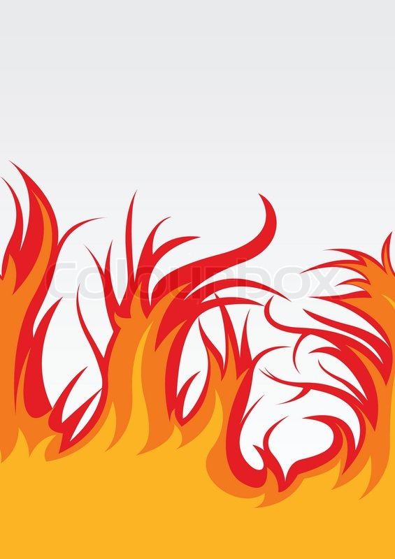 565x800 Vector Background With Fire Clip Art Vector Image