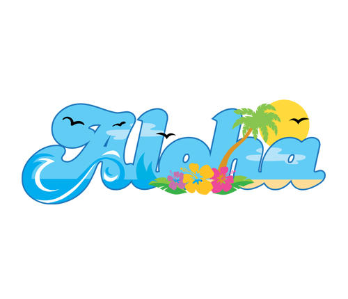 500x430 Clip Art Hawaiian Background Clipart