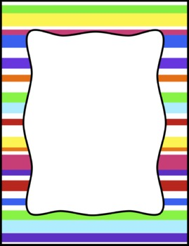 269x350 Colorful Stripes Frames, Borders, Background Clip Art By Tracee Orman
