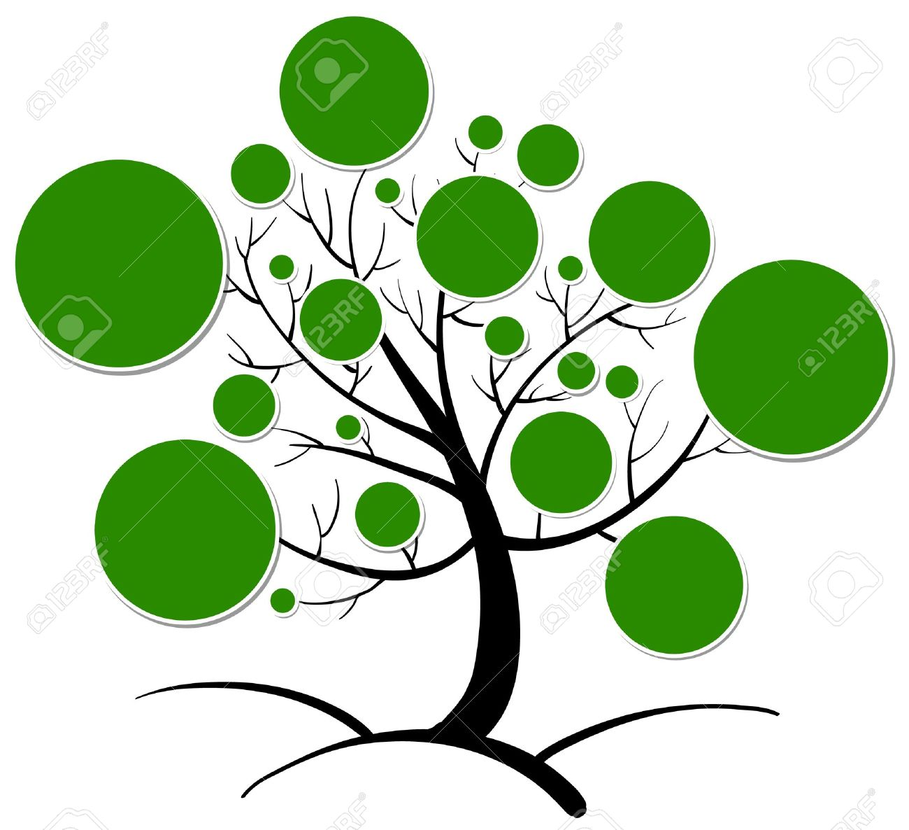 1300x1186 Illustration Of Tree Clipart On A White Background Royalty Free