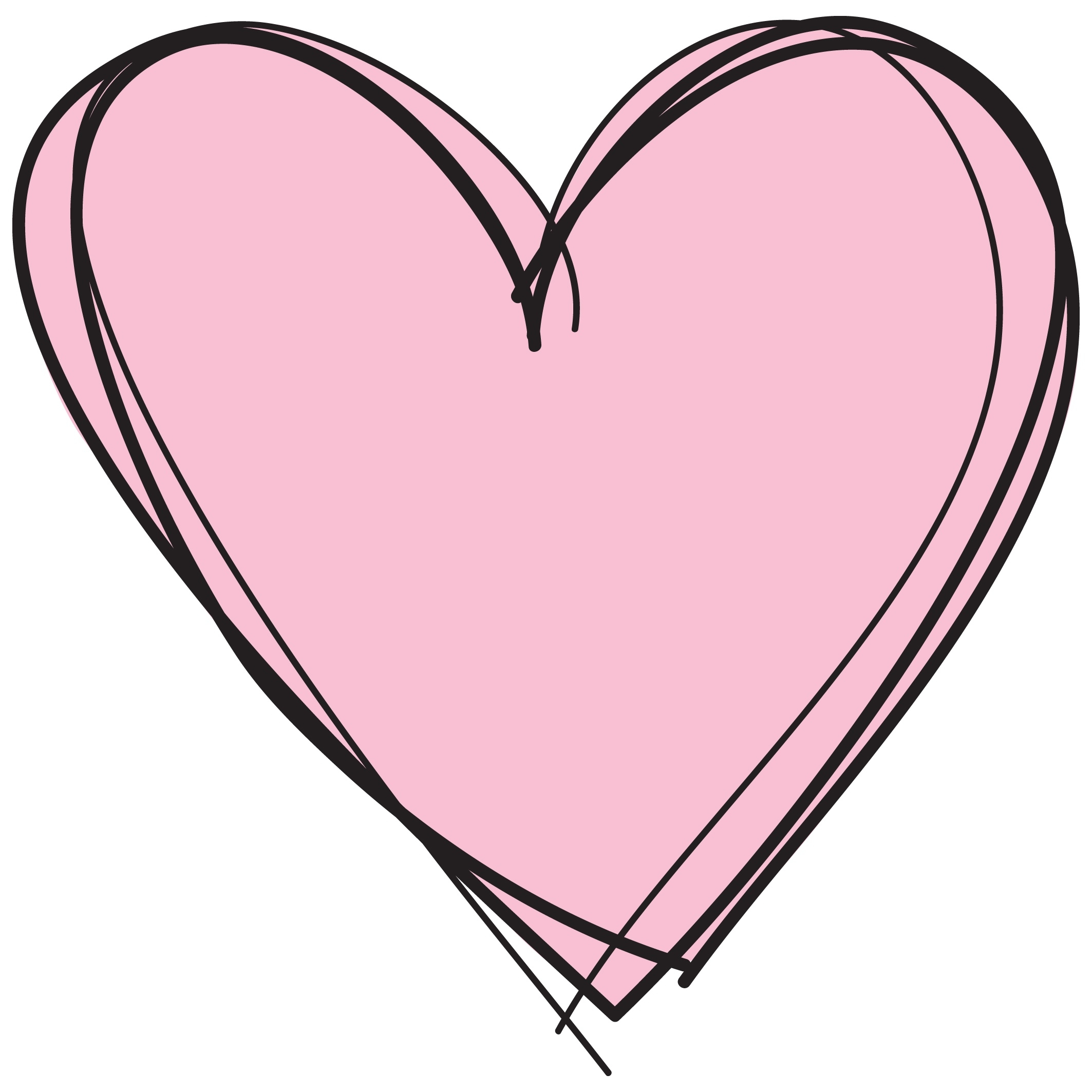 2126x2126 Pink Heart Clipart No Background Letters Example