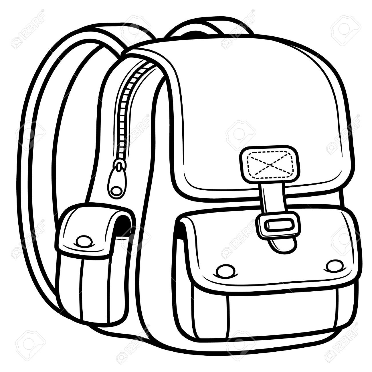 1300x1300 Bag Clipart Black And White