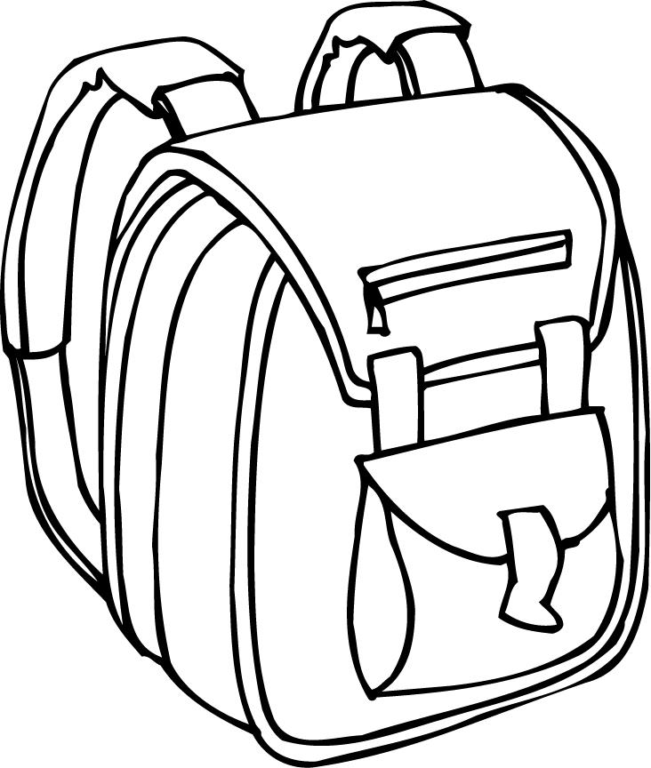 732x864 Free Backpack Clipart Black And White Image