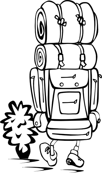 348x590 Free Hiking Backpack Clipart Image