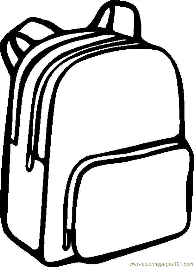 650x897 Bookbag Clipart Black And White