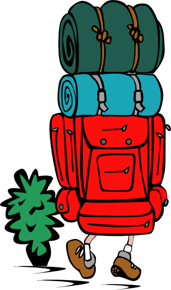 348x590 Backpacker Heavy Load Clip Art