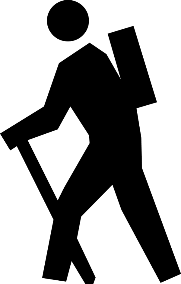 600x941 Backpacker Silhouette Clip Art