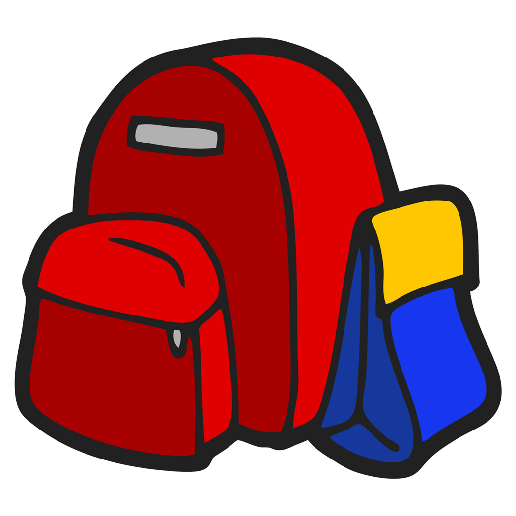 1050x1050 Coat And Backpack Clipart