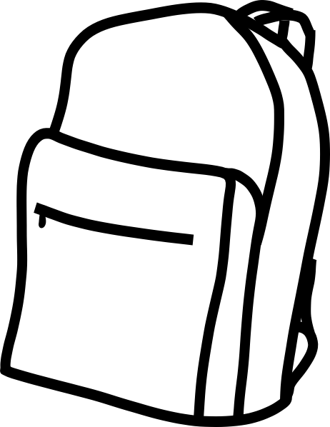 462x598 Free Backpack Clipart Black And White Image