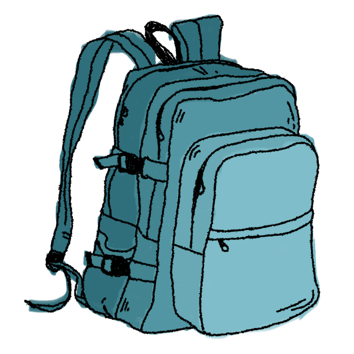 1200x1200 Free Hiking Backpack Clipart Image