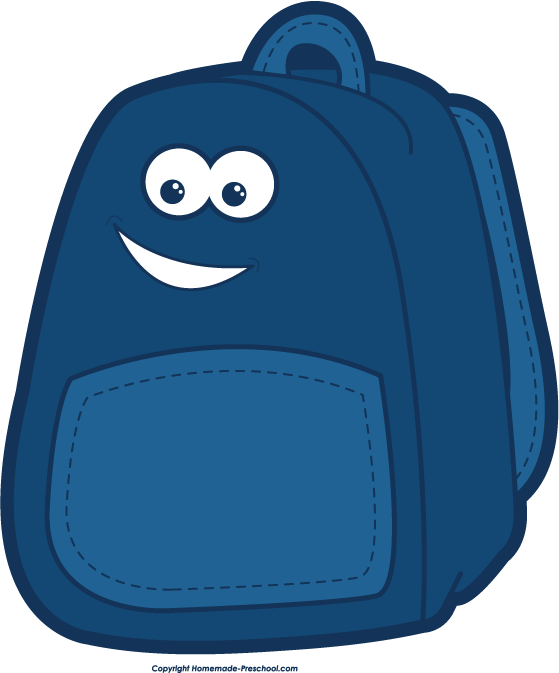 559x673 School Backpack Clip Art Clipartwiz 2