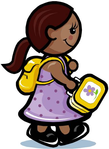 383x522 Student With Backpack Clipart