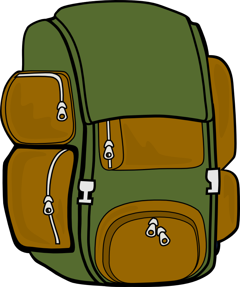 837x1000 Bag Clipart Backpack