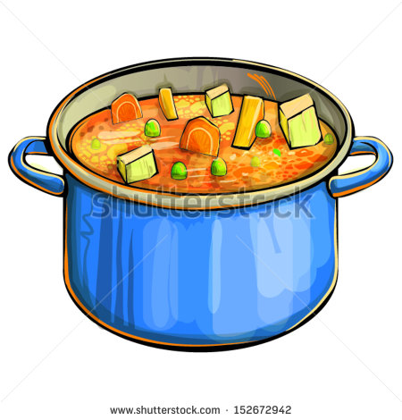 450x470 Soup Cartoon Clipart