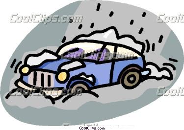 375x266 Car In Snow Clipart
